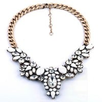 SOFT WHITE STATEMENT NECKLACE