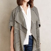 Eva Franco Segmented Stripe Jacket in Black Motif Size: