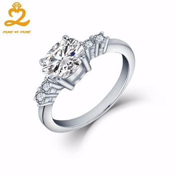 Heart By Heart Original Handmade Promise Ring Jewelry For Women Love Bague Anillos Mujer Gift White Gold Ring Lady Prevent Jewel