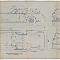 Vintage Ferrari Blueprints up for Auction