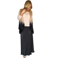 Flow With Me Charcoal Grey Skirt