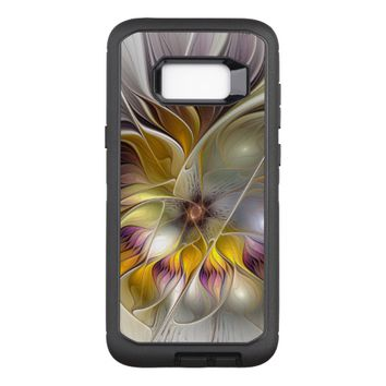 Abstract Colorful Fantasy Flower Modern Fractal OtterBox Defender Samsung Galaxy S8+ Case
