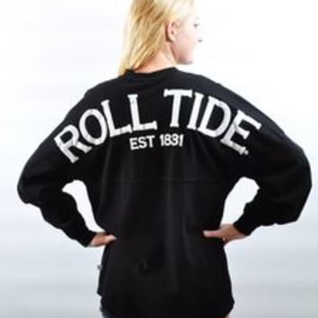 Alabama Crimson Tide Spirit Shirt Black from alabamaclothesstore. 2f6f282cd