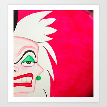 Cruella DeVille Art Print by Sierra Christy Art