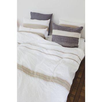 Zwin Stripe Bed Linens by Libeco