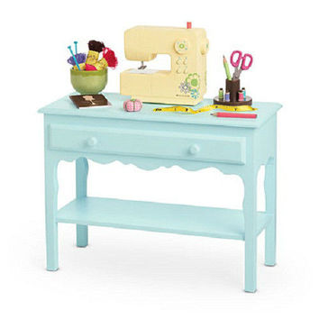 American Girl CHRISSA'S CRAFT STUDIO Table for Chrissa Doll Sewing Machine plus