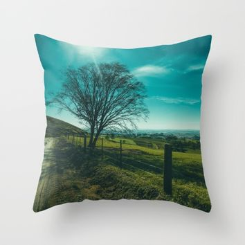 The Walk Home Throw Pillow by Mixed Imagery