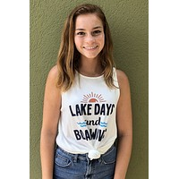 Lake Days Tank- White