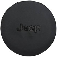 "All Things Jeep - Mopar Black Tire Cover with Jeep Logo in Black, 32"" x 10"""