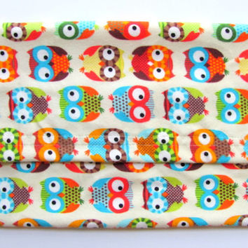 Microwave Heating Pad, Hot or Cold Therapy Pack, Lavender Aromatherapy Scented or Unscented, Washable Flannel Cover in Colorful Owl Fabric
