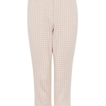 Ruffle Waist Gingham Trousers - New In Fashion - New In