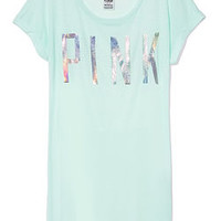 Cuffed Sleeve Tee - PINK - Victoria's Secret