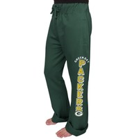 Women's Green Bay Packers Junk Food Green Boyfriend Fleece Pant