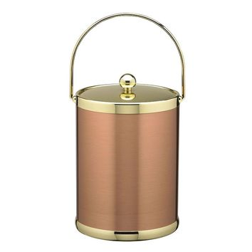 Kraftware Americano 5-qt. Copper & Brass Ice Bucket (Grey)