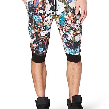 Paint Splatter Jogger Short