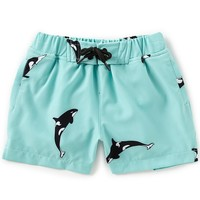 First Wave Little Boys 2T-7 Orca Whale Print Swim Trunks | Dillards