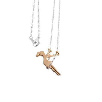 Little Girl Swinging Necklace (2 colors)
