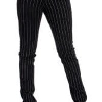 Black Pinstripe Skinny Fit Jeans -Emo style clothing, emo clothes, Emo jeans, skinny jeans by 3rd and 56th Street