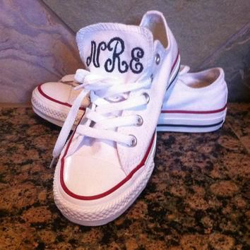 one of the hottest trends this season monogrammed authentic converse sneakers