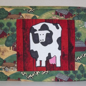 Cow Toaster Cover, Two Slice Toaster Cover, Farmland Toaster Cover, Country Kitchen