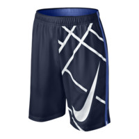 "Nike 8"" Court GFX Boys' Tennis Shorts Size Large (Blue)"