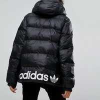 adidas Originals Oversized Padded Jacket With Hood at asos.com