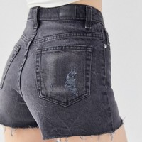 BDG Girlfriend High-Rise Denim Short – Black | Urban Outfitters