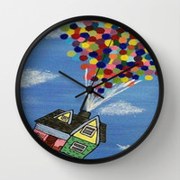 Up Wall Clock by Sierra Christy Art