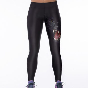 Black Panther Gothic Leggings Casual