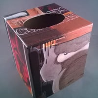 Cerebus comic book decoupage tissue box cover