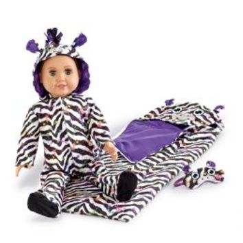 3 Pc Zebra Sleep Set   Girls 18 Inch Doll Clothes Beauty, Room & Toys   Shop Justice