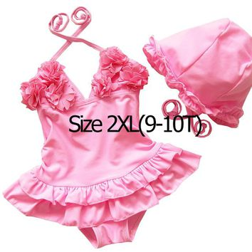 Childrens Swimsuit Cute Mioigee 2018 New Kids Swimwear for Girls  One Piece Swimwear Children Flowers Girl Bathing Suits Kids Swimming s KO_25_2