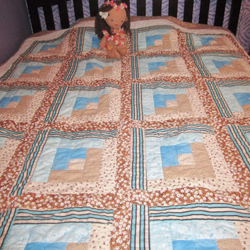 Flowers by the Sea Full size comforter quilt