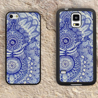 Mandala Navy Blue iPhone Case-iPhone 5/5S Case,iPhone 4/4S Case,iPhone 5c Cases,Iphone 6 case,iPhone 6 plus cases,Samsung Galaxy S3/S4/S5-002
