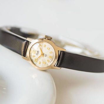 Gold plated lady watch rays pattern face limited edition watch gold shade wristwatch Glory fashion woman watch gift new premium leather band