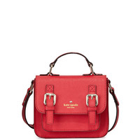 kate spade new york scout girls' saffiano leather crossbody bag, lollipop red