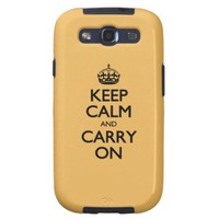 Beeswax Color Keep Calm And Carry On Galaxy SIII Cases