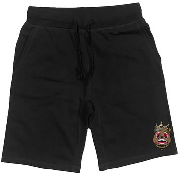 EAST BAWS PATCH Black French Terry Shorts