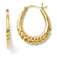 Sterling Silver Gold tone 18kt Hoop Earrings