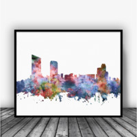 Grand Rapids Skyline Art Print Poster