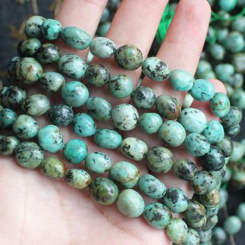 6-9mm Natural Africa Turquoises Irregular beads 15inch per stran, DIY Jewelry Making !We provide mixed wholesale for all items!