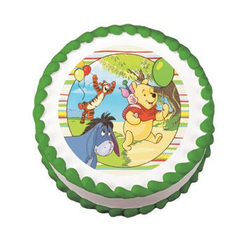 """8"""" Round ~ Winnie the Pooh ~ Off To the Party ~ Edible Image Cake/Cupcake Topper!!!"""