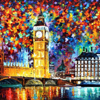 "Big Ben, London — PALETTE KNIFE Oil Painting On Canvas By Leonid Afremov - Size: 40"" x 30"" (100cm x 75cm) from afremov art"