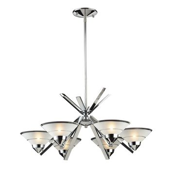 1475/6 Refraction 6 Light Chandelier In Polished Chrome - Free Shipping!
