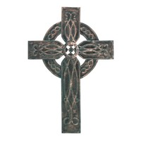 Beautifully Carved Antiqued Celtic Cross