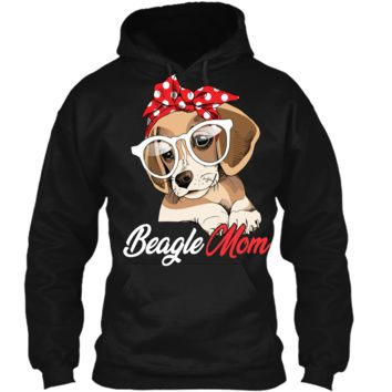 Beagle Mom Shirt for Beagle Dogs Lovers-Mothers Day Gift Pullover Hoodie 8 oz