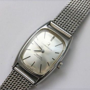 Vintage OMEGA Constellation Automatic Women's Wrist Watch SS