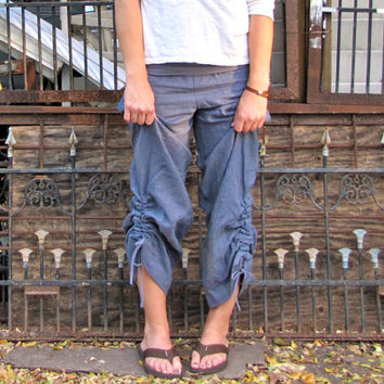 Hemp Ruched Ontario Pants