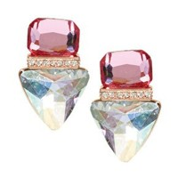 Jeweled Triangle Stud Earrings