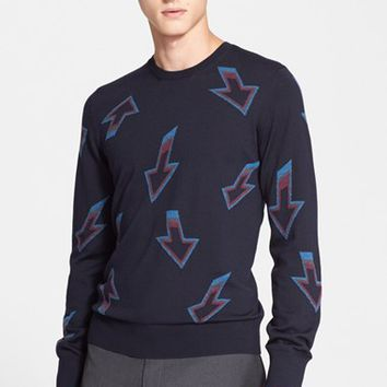 Men's PS Paul Smith 'Arrow' Intarsia Knit Merino Wool Sweater,